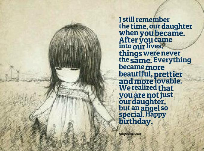 Happy Birthday Quotes For Daughter ~ You are not just our daughter but an angel so special u2013 quotes