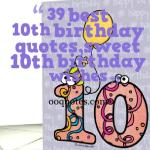39 sweet 10th birthday wishes,for both boys and girls