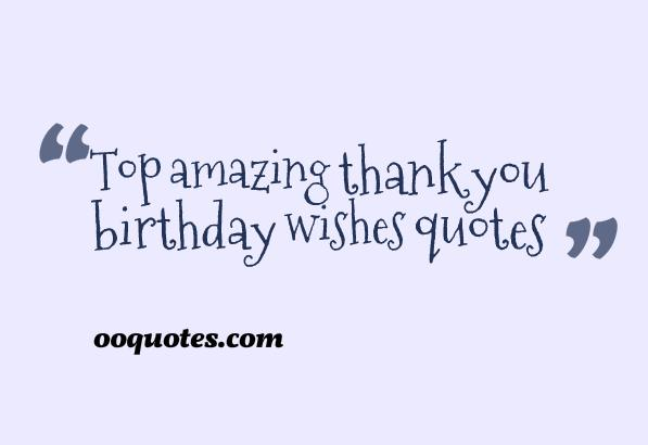 thank you birthday wishes quotes
