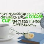 Eating rice cakes is like chewing on a foam coffee cup