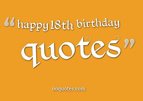 happy 18th birthday quotes