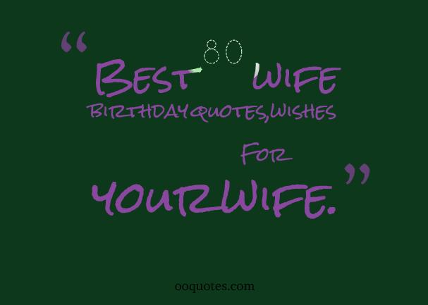 wife birthday quotes
