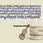 Your 50th birthday is a chance to do that grow up and stop being stupid