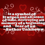 Love is a symbol of eternity