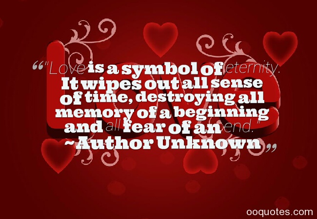 love is a symbol of eternity quotes