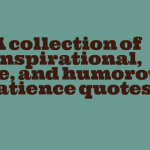 A collection of inspirational, wise, and humorous Patience quotes