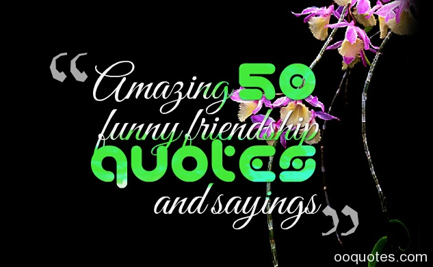 amazing 50 funny friendship quotes and sayings