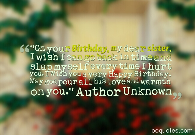 Sweet and great sister birthday quotes and sayings with ...