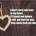 I don't carry any hate in my heart